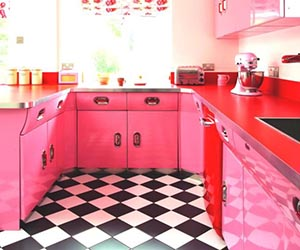 Red And Pink Retro Kitchen