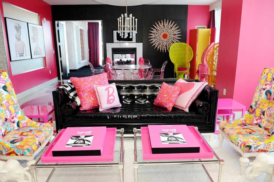 Barbie Living Room with Collage Chairs - Room Decor and Design