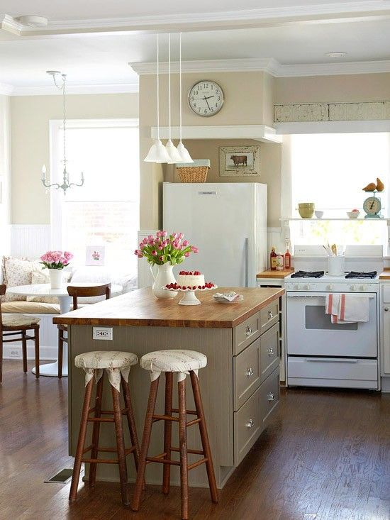 Cream And Taupe Kitchen