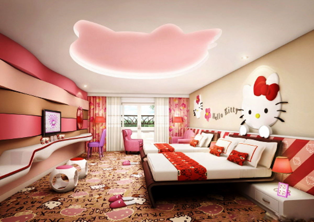 Cool Wallpaper Hello Kitty Girly - hello-kitty-bedroom-for-two-mygirlyroom  Trends_289864.jpg