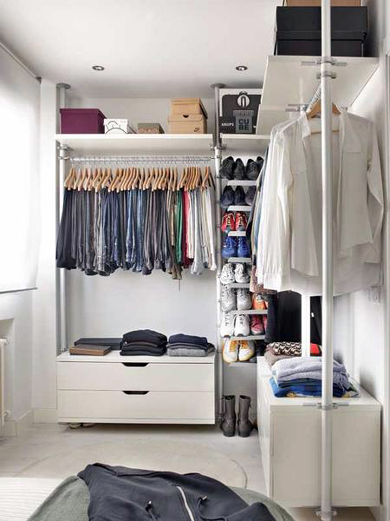 Mens Dressing Room with Shoe Collection Room Decor and Design