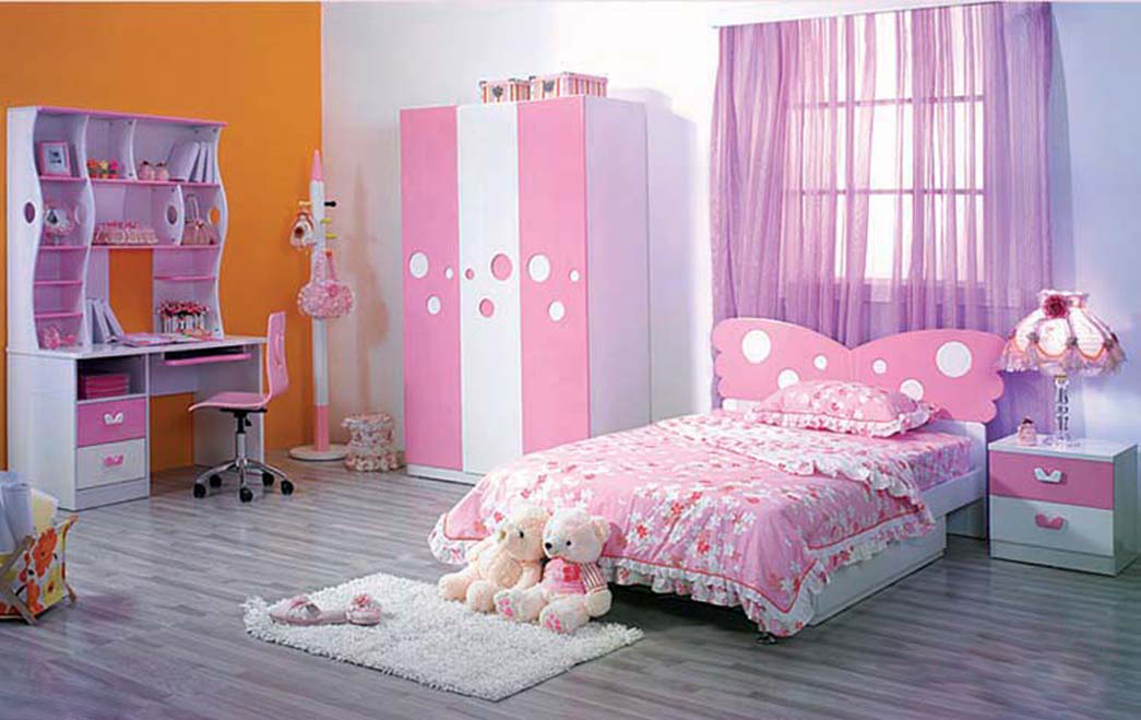 pink and purple bedroom with a wall of gold - room decor and design