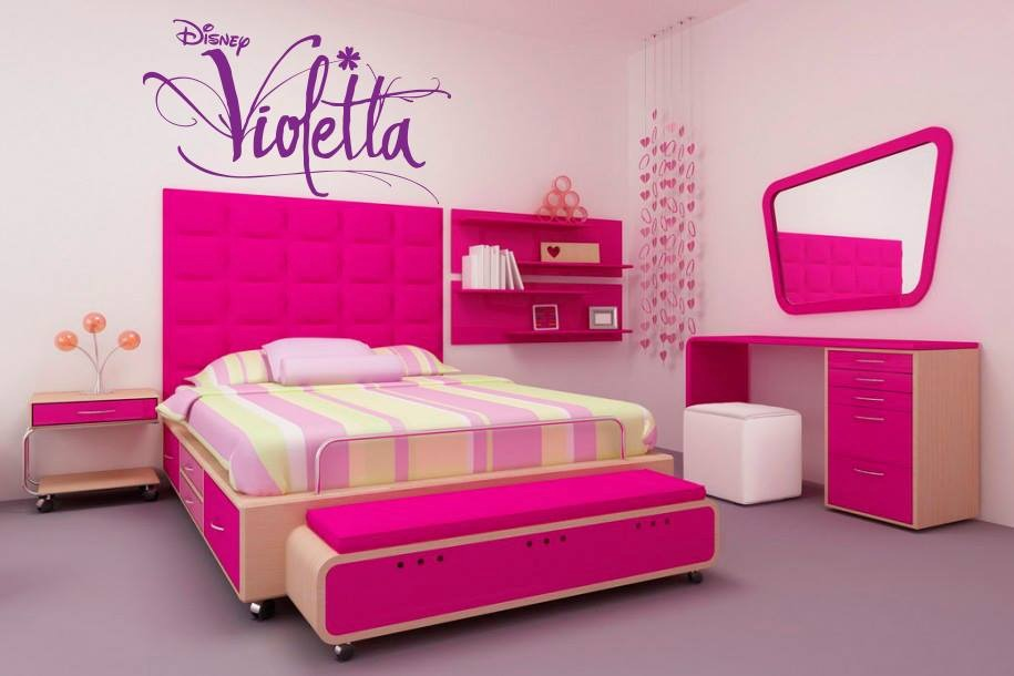 Pink violetta bedroom room decor and design