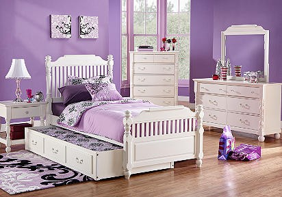 Purple And White Bedroom Room Decor And Design
