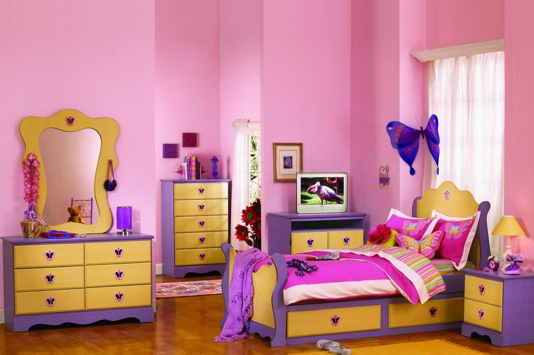 Purple And Pink Bedroom