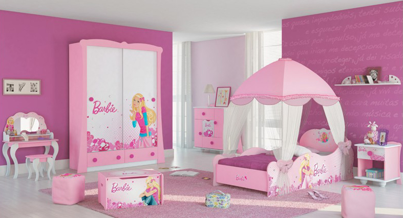 Purple Barbie Bedroom Room Decor And Design