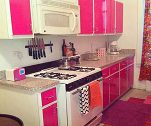 bright pink kitchen accessories pink bedroom with glass table room decor and design 4916